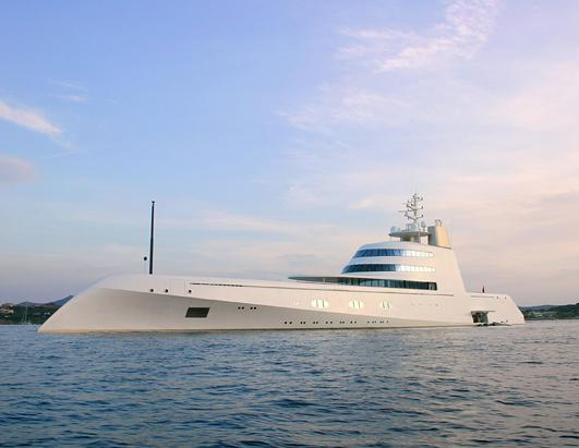 The £300million superyacht owned by Russian billionaire Andrey Melnichenko